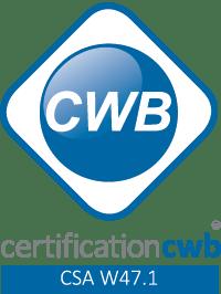 Entreprise certifiée CWB | Certification aux normes CSA W59 et W47.1 du Bureau canadien de soudage